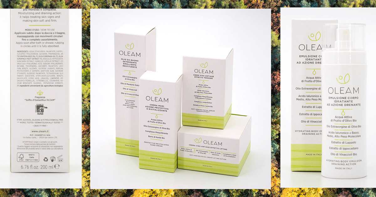 I packaging Oleam sono sostenibili perché di carta certificata FSC